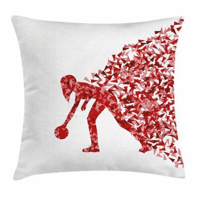 Bowling Party Abstract Player Square Pillow Cover Size: 20 x 20