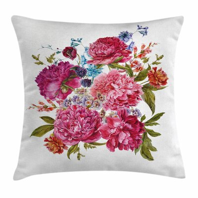Shabby Elegance Decor Gentle Summer Square Pillow Cover Size: 16 x 16
