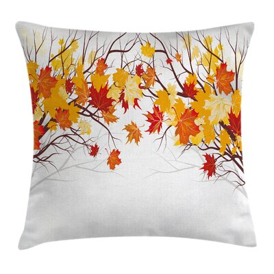 Fall Decor Cartoon Autumn Tree Square Pillow Cover Size: 16 x 16
