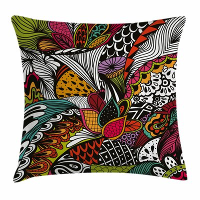 Exotic Flowers Square Pillow Cover Size: 18 x 18
