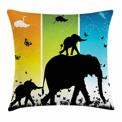 Zoo Fantastic Colorful Nature Square Pillow Cover Size: 18 x 18
