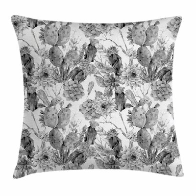 Cactus Boho Botanical Square Pillow Cover Size: 16 x 16