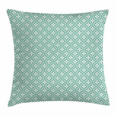 Floral Clover Figures Celtic Square Pillow Cover Size: 18 x 18