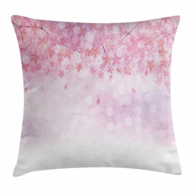 Sakura Bloom Florets Square Pillow Cover Size: 20 x 20