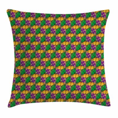 Abstract Geometric Cube Square Square Pillow Cover Size: 18 x 18