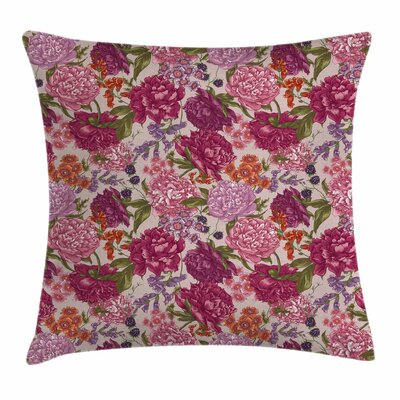Wild Flowers Square Pillow Cover Size: 24 x 24