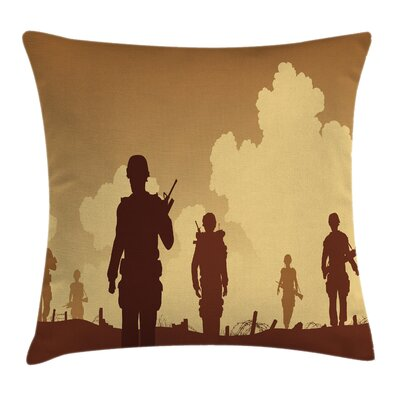Silhouettes of Soldiers Square Pillow Cover ETHE1935 44280755