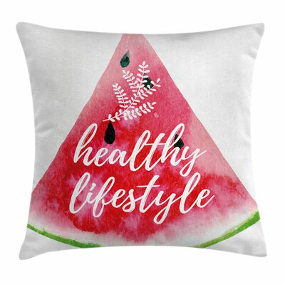 Fitness Healthy Lifestyle Vivid Square Pillow Cover Size: 18 x 18