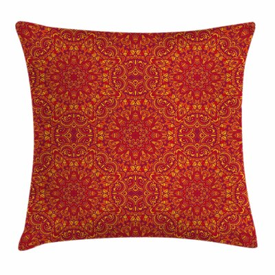 Festive Eastern Square Pillow Cover Size: 18 x 18