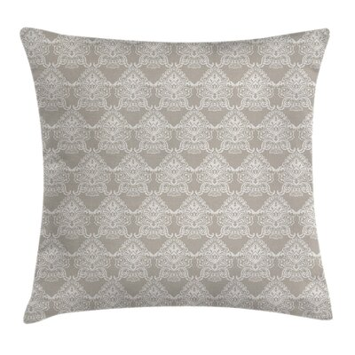 Damask Ancient Royal Tone Square Pillow Cover Size: 20 x 20