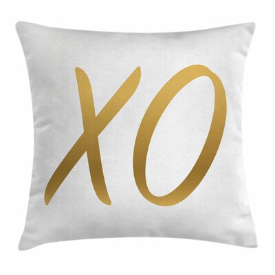 Xo Decor Happy Joyful Affection Square Pillow Cover Size: 24 x 24