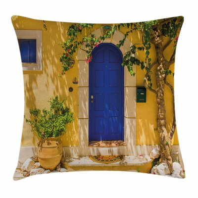Greek House Square Pillow Cover Size: 18 x 18