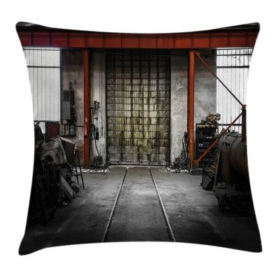 Rusty Storage Square Pillow Cover Size: 24 x 24
