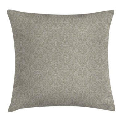 Flower Retro Antique Square Pillow Cover Size: 16 x 16