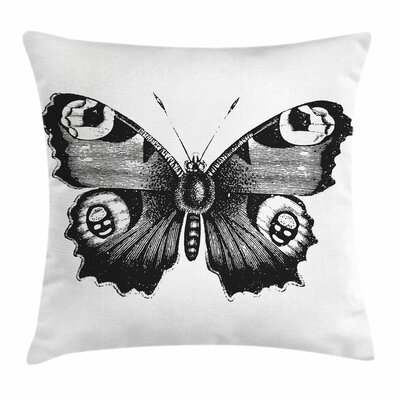 Butterfly Art Square Pillow Cover Size: 24 x 24