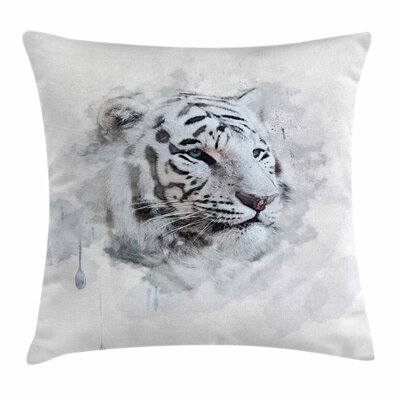 Animal Tiger Portrait Square Pillow Cover Size: 16 x 16