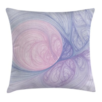 Abstract Fractal Shapes Square Pillow Cover Size: 24 x 24