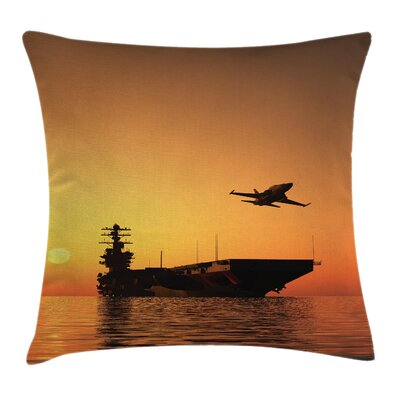 Aircraft Jet War Battle Square Pillow Cover Size: 18 x 18