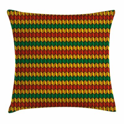Rasta Triangle Inspired Shapes Square Pillow Cover Size: 16 x 16