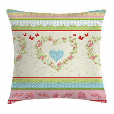 Country Roses Square Pillow Cover Size: 18 x 18