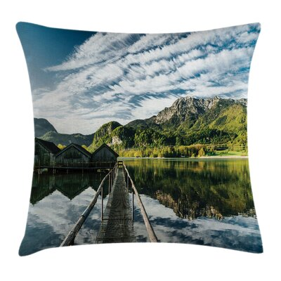 Mountain River Cottage Square Pillow Cover Size: 16 x 16