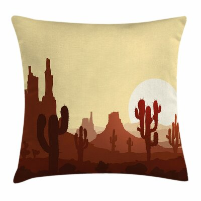 Cactus Arid Country Eco Square Pillow Cover Size: 24 x 24