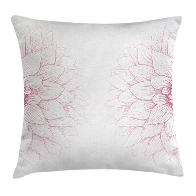 Blossom Flower Square Pillow Cover Size: 18 x 18