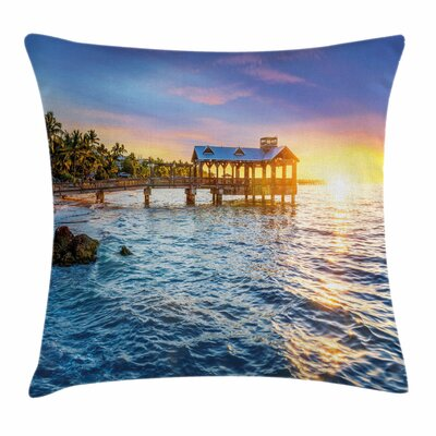 United States Florida Beach Square Pillow Cover Size: 16 x 16