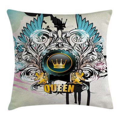 Queen Artsy Arms Shield Design Square Pillow Cover Size: 18 x 18
