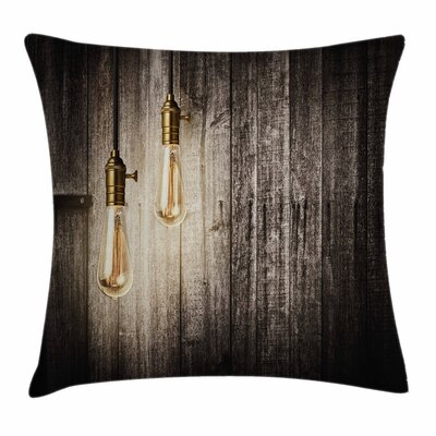 Electric Retro Square Pillow Cover Size: 24 x 24
