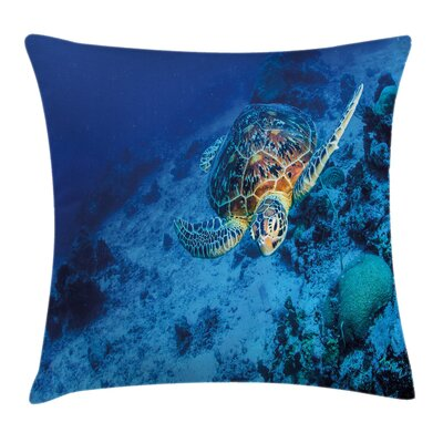 Oceanic Wildlife Square Pillow Cover Size: 16 x 16