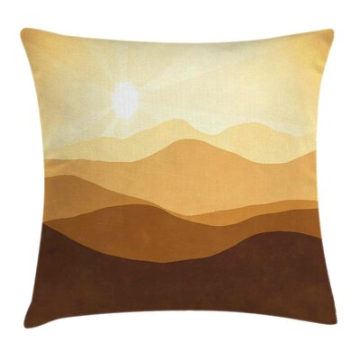 Sunrise Mountains Square Pillow Cover Size: 16 x 16