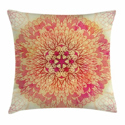 Indian Lively Flora Square Pillow Cover Size: 24 x 24
