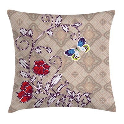 Blooming Flower Square Pillow Cover Size: 16 x 16