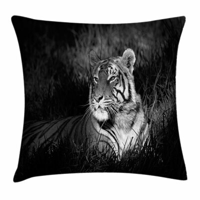 Bengal Tiger Square Pillow Cover Size: 24 x 24