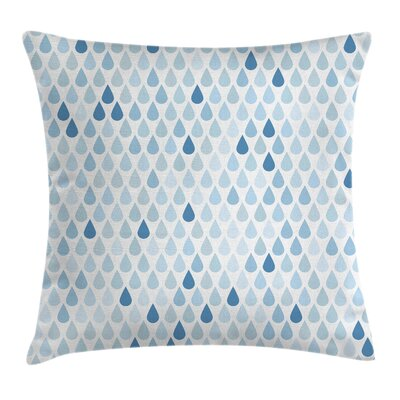 Raindrops Art Square Pillow Cover Size: 24 x 24