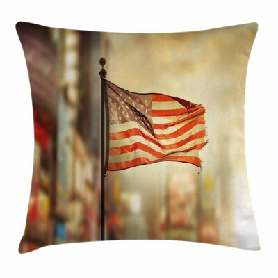 United States Independence Day Square Pillow Cover Size: 24 x 24
