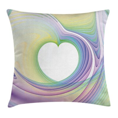 Abstract Art Heart Square Pillow Cover Size: 18 x 18