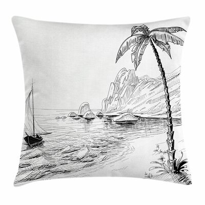 Exotic Holiday Square Pillow Cover Size: 18 x 18