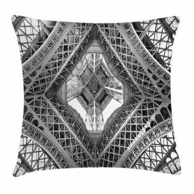 Paris Eiffel Square Pillow Cover Size: 24 x 24