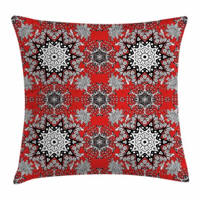 Indian Floral Swirl Square Pillow Cover Size: 18 x 18