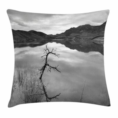 Tranquil Lake Square Pillow Cover Size: 24 x 24