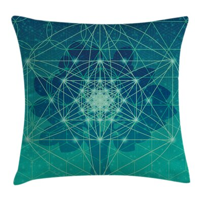 Tree with Sacred Geometry Square Pillow Cover Size: 24 x 24