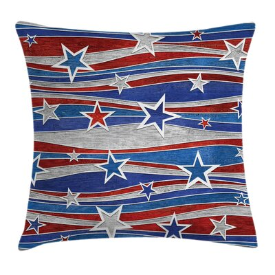 American Abstract Decor Pattern Square Pillow Cover Size: 24 x 24