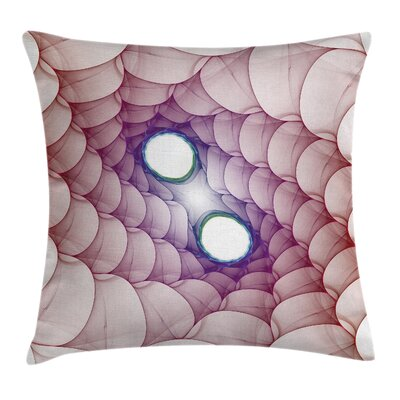 Fabric Psychedelic Abstract Square Pillow Cover Size: 20 x 20