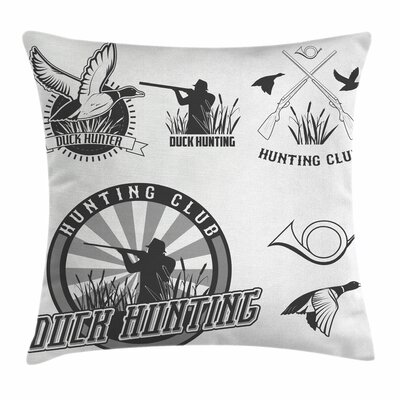 Activity Badges Square Pillow Cover Size: 16 x 16