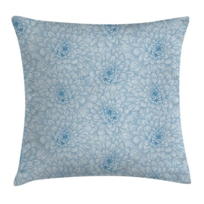 Blooming Flowers Romance Square Pillow Cover Size: 24 x 24