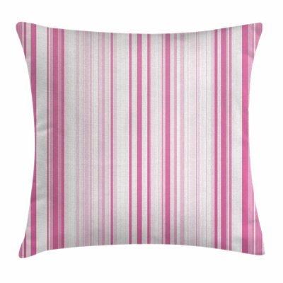 Vertically Striped Square Pillow Cover Size: 16 x 16