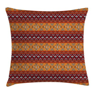 Folkloric Tribal Square Pillow Cover Size: 18 x 18
