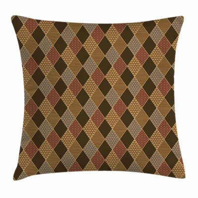 Classic Lozenge Pattern Square Pillow Cover Size: 18 x 18